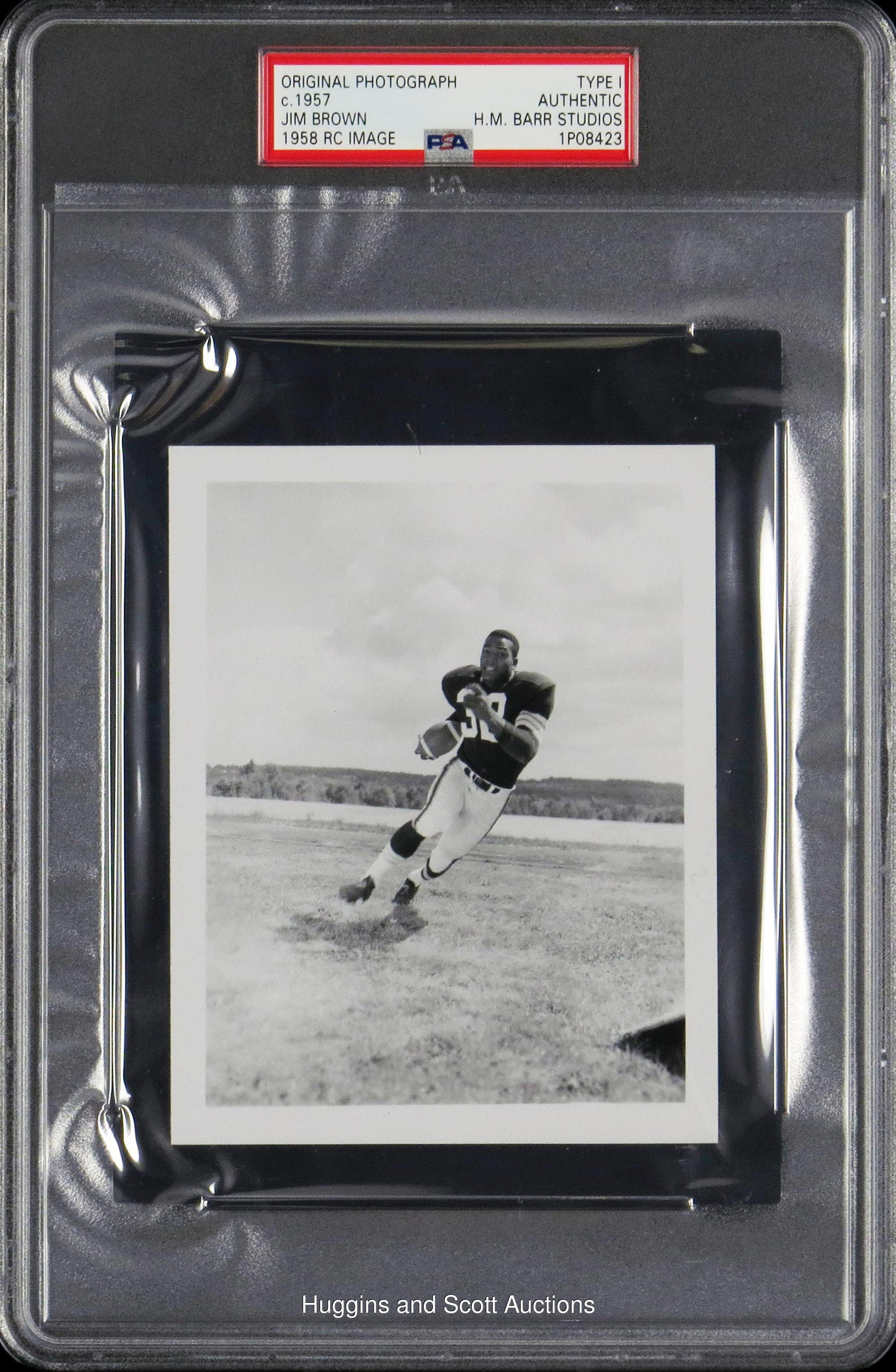 Jim Brown 1957 Contact Proof Original Photo By Henry Barr